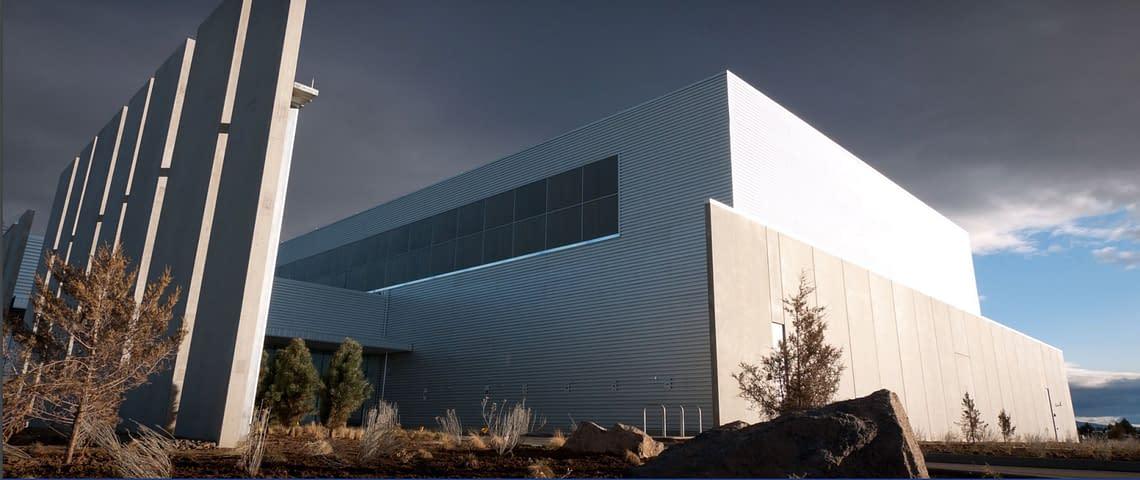 A big metal building