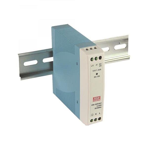 Power supply on a rail