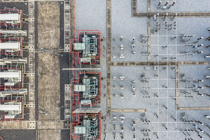 A power grid seen from above